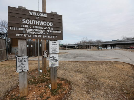 The Southwood Access boat launching area at Lake Springfield