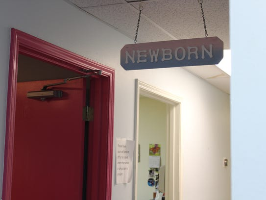 A room for newborn care and consultation at Minden