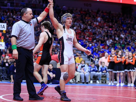 John Henrich of Akron-Westfield wins the state championship