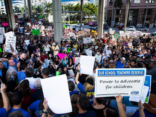 Hundreds of students, community members, elected officials
