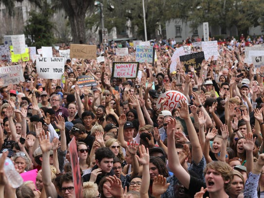 Teenagers are stepping up to show lawmakers their chagrin with slack gun laws in Florida.