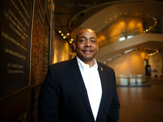 New president Dion Brown poses on the second floor