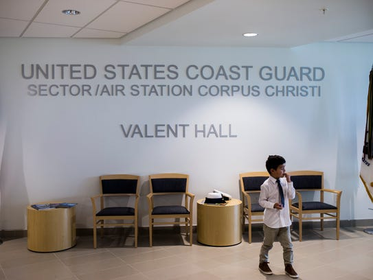Jayce Carlson, 5, stands in the lobby of of the new