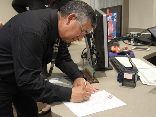 Newly elected Ward 2 city council member Leo Estrada,