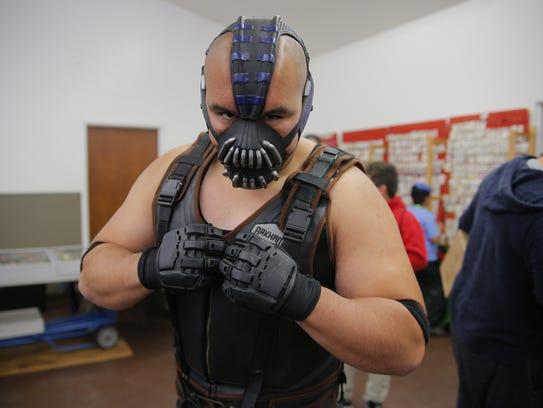 Erik Perez and his Bane cosplay at the Salinas Anime-Comic