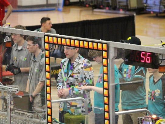 Nicholas Schueler is the driver of the robot for The