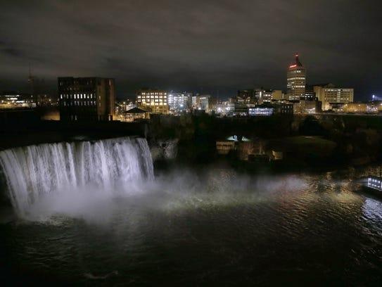 High Falls, also known as Upper Falls, on the Genesee