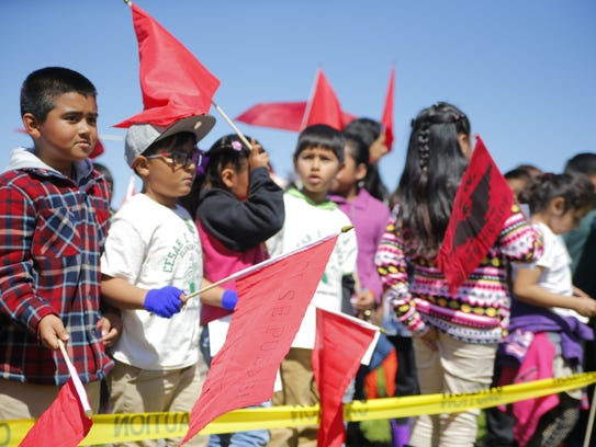 Cesar E. Chavez Elementary school in Salinas hosted