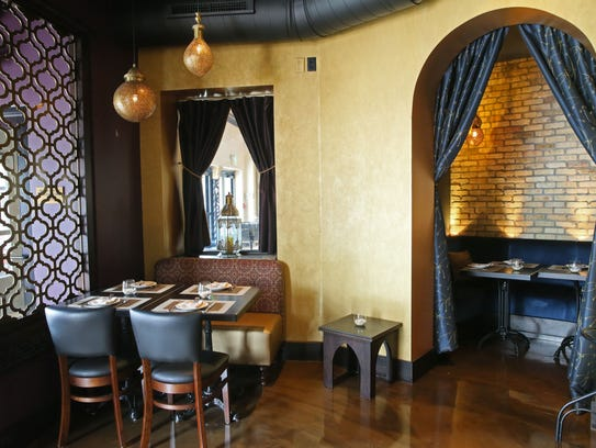 The cozy dining room at Mistral in Bay View includes