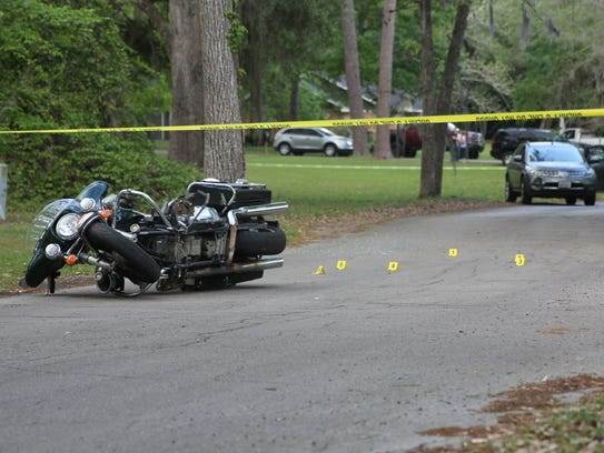 A motorist was hospitalized Monday afternoon after