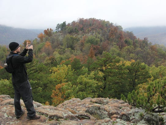 Sam's Throne in Arkansas is among the hiking trips