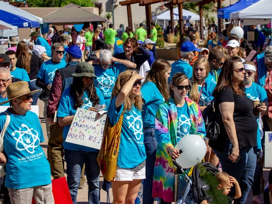 March for Science at the Plaza de Las Cruces on April