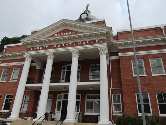 Tara Nix worked inside the Madison County Courthouse