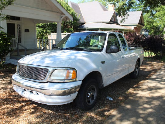 Possibly the truck used by alleged bank robber Mark