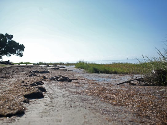 The beach at Shell Point, pictured Tuesday, Sep. 12,