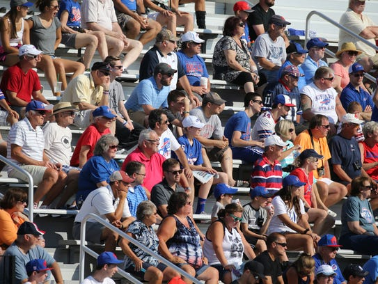 Fans at Bills training camp at St. John Fisher College.
