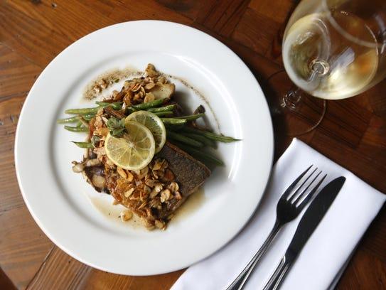 Trout amandine at Sage. Sophisticated brunch menu items