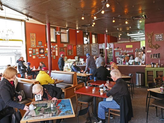 The center booths in the Steaming Cup's current configuration will be removed, and banquette seating will be installed at the windows, which look out on Clinton St. in downtown Waukesha.