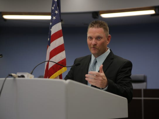 Jeffrey Johnson, the new Salinas fire chief, was introduced
