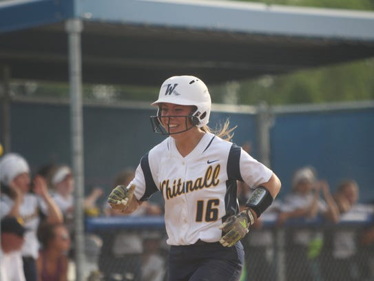 Whitnall's Haley Wynn is all smiles while crossing