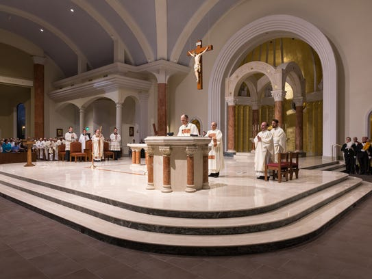 The new St. Pius X Church celebrated its official opening