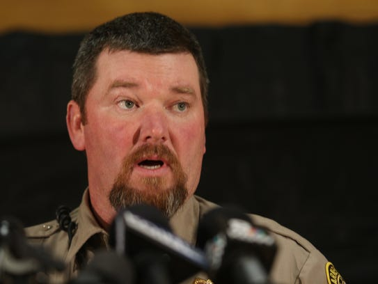 Harney County Sheriff David Ward speaks at a Monday
