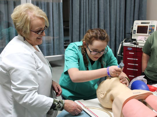 MASH Camp was an opportunity for students to see healthcare