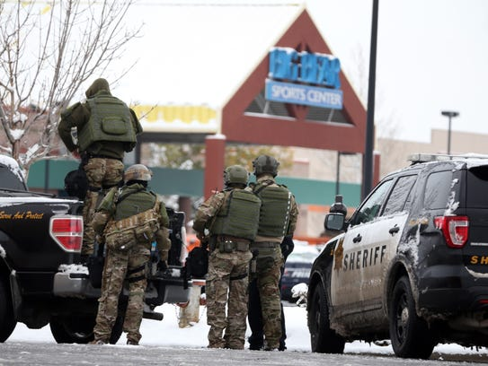 Members of the Yellowstone County Sheriff's Department
