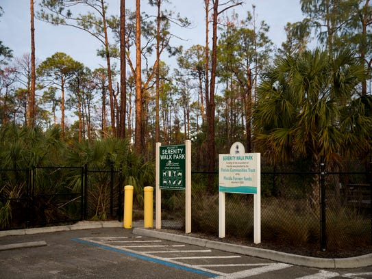Serenity Walk Park, nestled along the west side of Collier Boulevard just north of Rattlesnake Hammock Road, recently reopened after being shut down for months due to damage from last spring's brush fires and Hurricane Irma. The park, opened in 2011, features a mile-long walking trail and is home to an abundance of native birds and plant life.