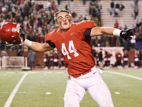 Brentwood Academy linebacker Jack Sirmon is No. 7 on