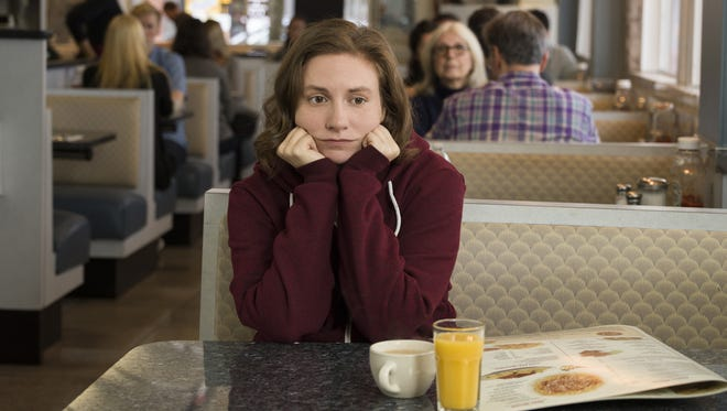 New mom Hannah Horvath (Lena Dunham) is forced to grow up in the series finale of 'Girls.'