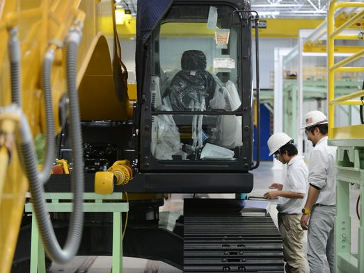 The new Kobelco plant, a Japanese company that makes