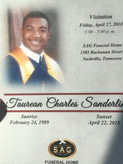 Taurean Sanderlin, 29, a cook at the Waffle House for five years, was killed in the shooting April 22, 2018.