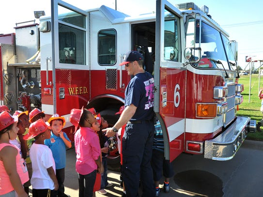 Wichita Falls firefighter Stuart Sutherland teaches