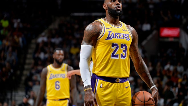 Los Angeles Lakers forward LeBron James.