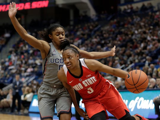 Ohio State guard Kelsey Mitchell won Big Ten player