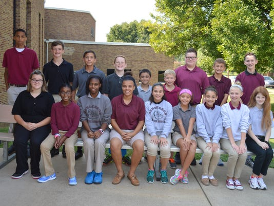 South Middle School August students of the month