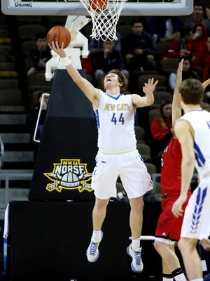 New Cath forward Ben Weyer scores on a reverse lay up.