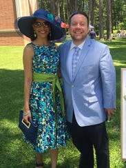 Krystle and John Grindley dress in traditional style