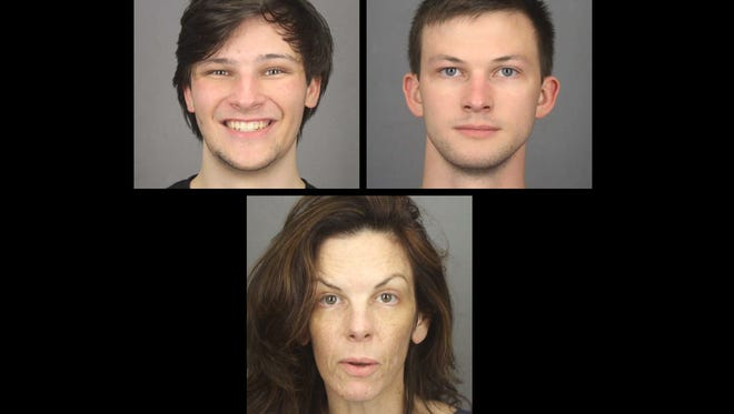 From top left, Alexander, Colin and Laura Rideout.