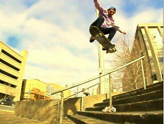 Jonathan Booker, 25, an avid skateboarder and photographer