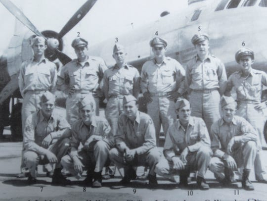 Capt. James Warmbrod, second from left on back row,