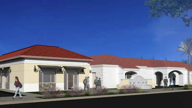 Rendering of the planned addition to the senior center in Downtown Coachella.