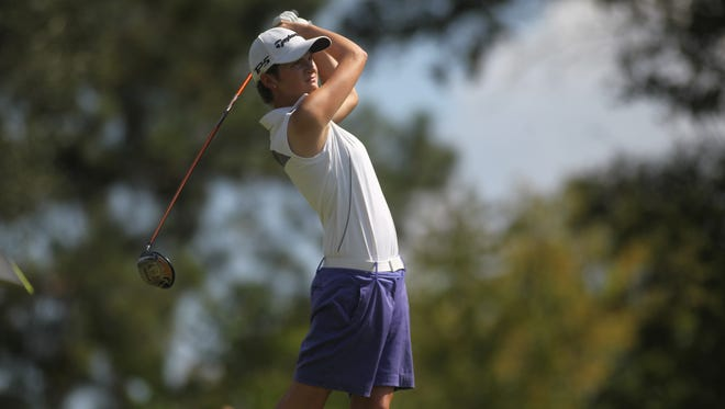 St. John Paul II senior Morgan Comer plays during a nine-hole round at Havana Golf and Country Club.