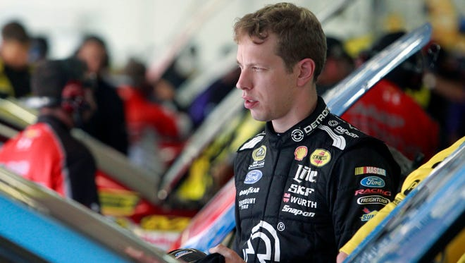 Brad Keselowski won the fall race at Charlotte last season.