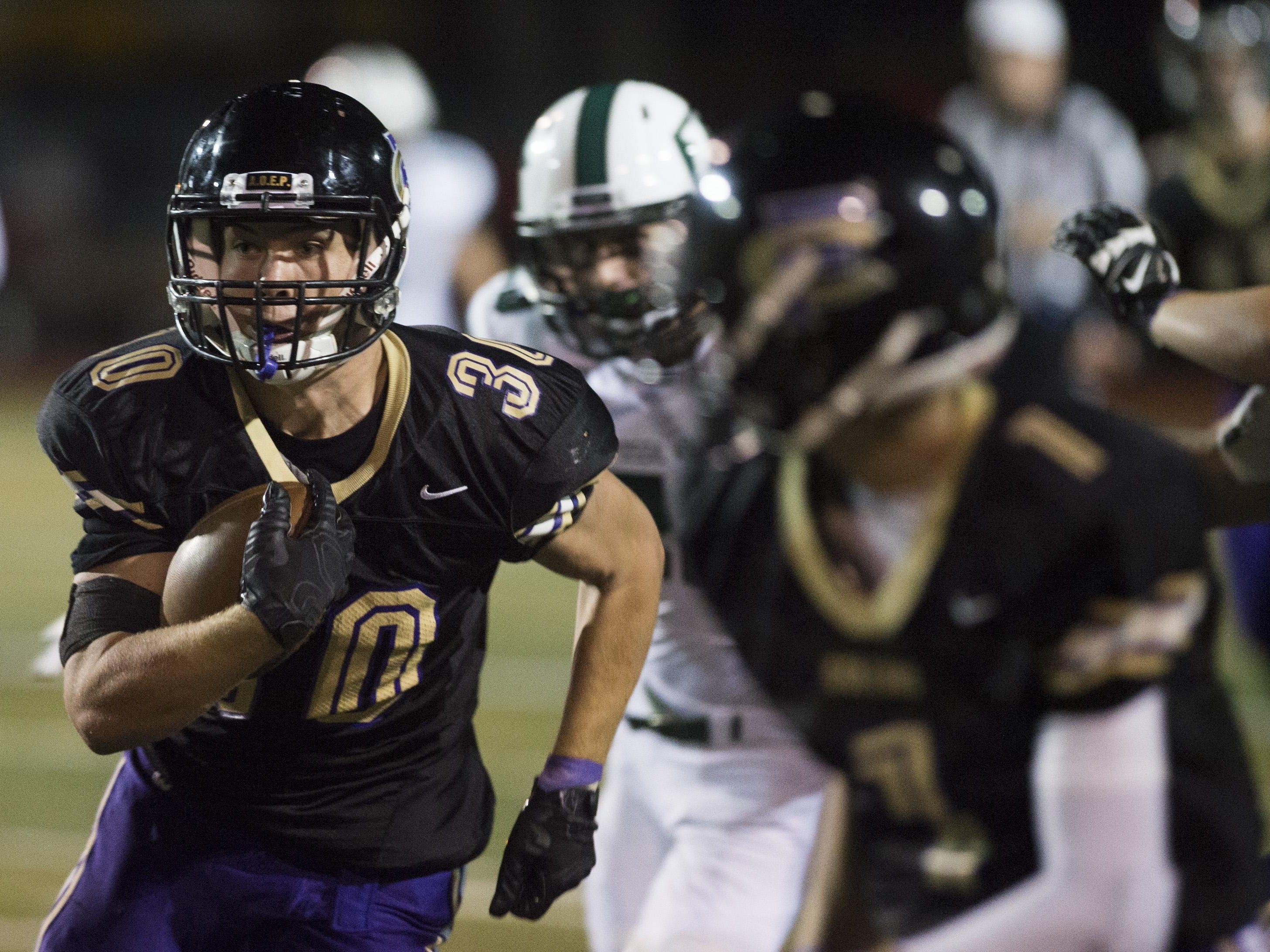 Fort Collins High School running back Sam Bostak averaged 4.7 yards per carry last week. The Lambkins play at Windsor at 7 p.m. Friday.