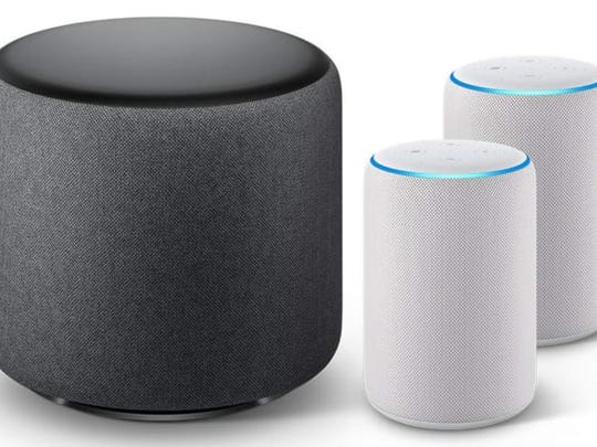 A pair of Amazon Echo smart speakers can be connected to an Echo subwoofer for richer sound ($290, bundled price on Amazon.com.)