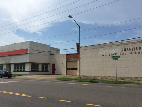 The old Coca-Cola warehouse seen from Cameron Street,