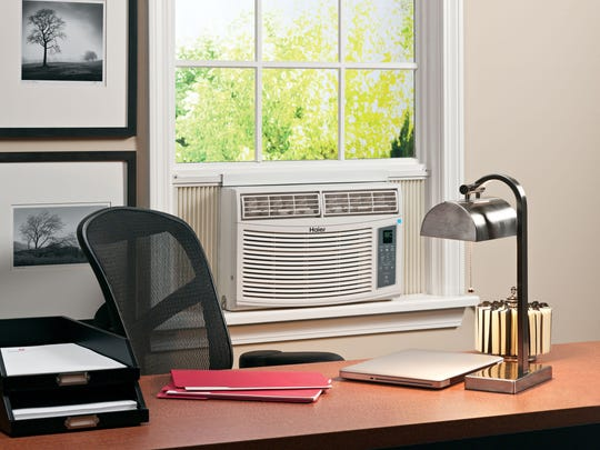 An Energy Star qualified room air conditioner in an