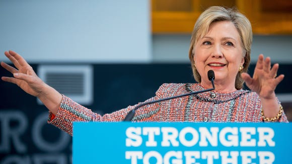 Hillary Clinton at an event in Denver on June 28, 2016.